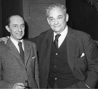 Curt Bois - Curt Bois (left) with Fritz Kortner in the Berlin Schillertheater (1959)