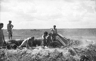 7.5 cm leichtes Infanteriegeschütz 18 - Image: Bundesarchiv Bild 101I 219 0594 34, Russland Mitte Süd, leichtes Infanteriegeschütz