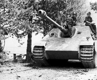 Jagdpanther - A Jagdpanther in France, 1944.