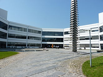 Bundeswehr University Munich - Hirschkäfer, one of the central buildings containing the main library.