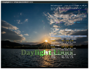 Daylight Linux - This image shows the desktop of Daylight Linux Version 2