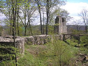 Kaltenburg Castle - Southwest curtain wall and tower