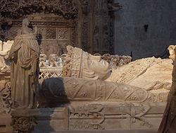 Gisant de Jean II de Castillepar Gil de Siloé (XVesiècle)Chartreuse de Miraflores, Burgos