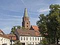 Burgweg and tower of the Dom from St. Petri Brandenburg.jpg