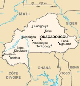 Burkina Faso - Mappa