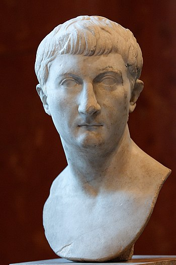 Portrait of Drusus Minor. Marble, Roman artwor...