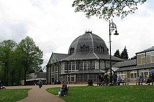 English: Buxton Pavilion (from the gardens)