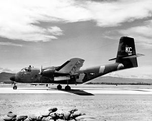 458th Airlift Squadron - A 458th TAS C-7B in Vietnam, 13 September 1970.