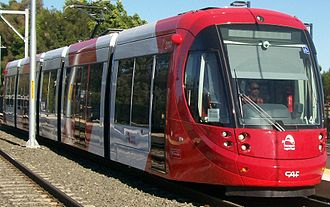 Transdev Australasia - A Sydney Light Rail Urbos 3 at a station on the Dulwich Hill Line