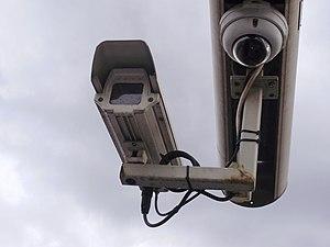Security camera - CCTV camera - at the metro s...