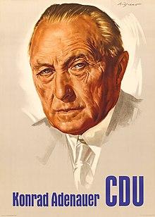 affiche pour la cdu et adenauer - Konrad Adenauer Lebenslauf