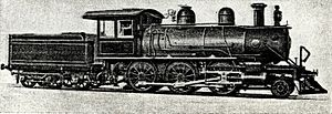 CGR 1st Class 2-6-0 1891 - 1st Class Baldwin 2-6-0 with short capped chimney
