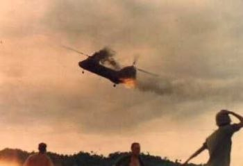 CH-46 Shot down during Operation Hastings