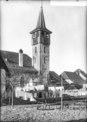 CH-NB - Corcelles-près-Payerne, Église, Tour, vue partielle - Collection Max van Berchem - EAD-7219.tif