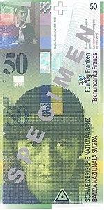 50 Franken Vorderseite