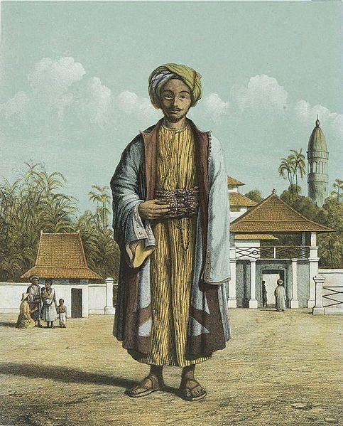 Berkas:COLLECTIE TROPENMUSEUM Een islamitische pelgrim die naar Mekka is geweest TMnr 3728-729.jpg