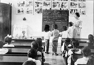 Bahasa Indonesia: Foto. Sebuah pelajaran mengg...