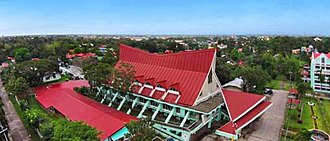 University Church, Central Philippine University - Image: CPU Church Aerial View
