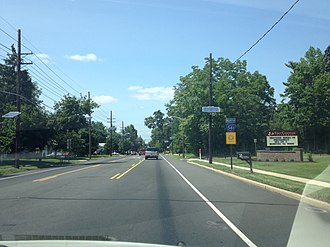 County Route 541 (New Jersey) - CR 541 northbound past CR 635 in Burlington Township