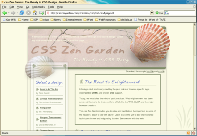 An example of a fixed-layout design