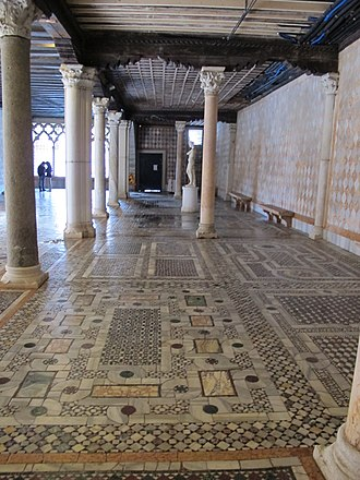 Opus sectile - Cosmatesque pavement, Ca' d'Oro, Venice
