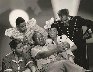Cabin in the Sky (film) - L-R: Ethel Waters, Kenneth Spencer, Eddie Anderson, Lena Horne, and Rex Ingram