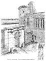 Caerlaverock Castle - View in Courtyard, looking South-West.png