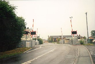 Caersws - Image: Caersws staion crossing