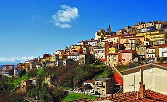 Cairano - Image: Cairano Italy hillside 2016