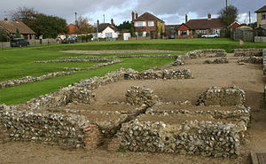 Caister-on-Sea - The site of the Roman fort at Caister