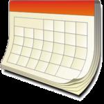 Drawing of an empty calendar.