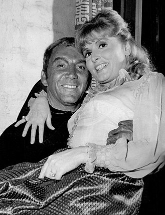 Cameron Mitchell (actor) - Mitchell with Patricia Barry in The High Chaparral