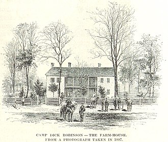 Camp Dick Robinson - The farmhouse at Camp Dick Robinson in 1887