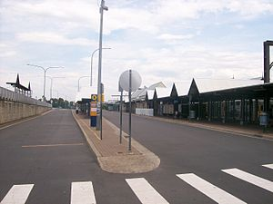 Campbelltown railway station - Bus stop bays on east side of station