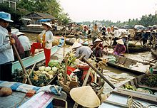 A float market in river, Cai Lay district.