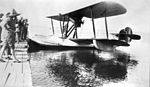 Canadian Vickers Vedette Airplane at Cold Lake dock (27223026691).jpg