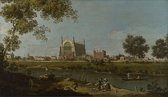 Eton College - Eton College Chapel by Canaletto, National Gallery, London.