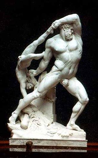 Hercules (Seneca) - Hercules and Lycus, (Antonio Canova, 1795)