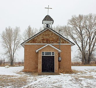 National Register of Historic Places listings in Costilla County, Colorado - Image: Capilla de San Isidro (Costilla County, Colorado)