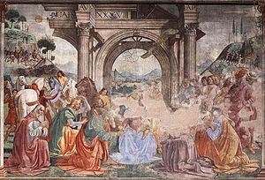 Cappella Tornabuoni, Adoration of the Magi 01.jpg