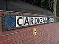 Cardigan Road sign, Burley Lodge, Leeds - geograph.org.uk - 445557.jpg