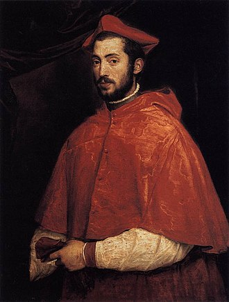Alessandro Farnese (cardinal) - portrait by Titian