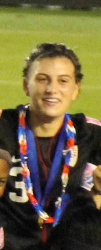 Cari Roccaro - Roccaro in the award ceremony at Japan 2012 FIFA U20 World Cup