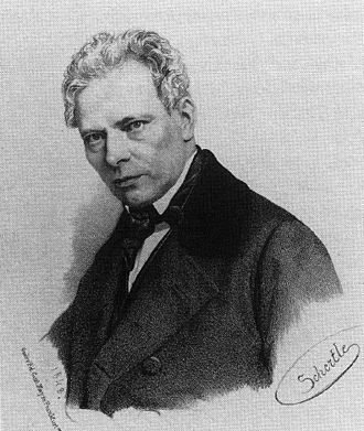 Carl Theodor Welcker - Welcker in 1848. Lithograph after a drawing by Valentin Schertle.