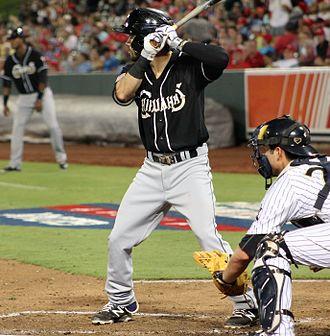 Carlos Asuaje - Asuaje batting for the El Paso Chihuahuas in 2016