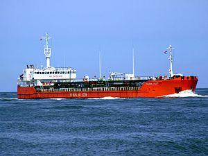 Caspian Leader IMO9235684 p1 approaching Port of Rotterdam, Holland 08-Jul-2007.jpg