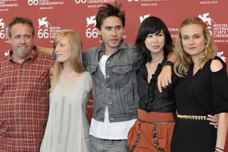 Jaco Van Dormael - Van Dormael with the cast of Mr. Nobody at the 2009 Venice Film Festival