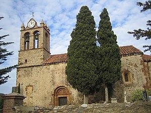 Castelnou, Pyrénées-Orientales - Image: Castellnou dels Aspres Santa Maria del Mercadal