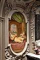 Cella di sant'agnese di montepulciano, con affreschi di nicola nasini, 1704, 16 il corpo incorrotto di sant'agnese alza il piede per santa caterina da siena.jpg