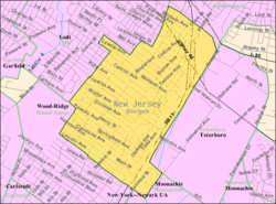 Census Bureau map of Hasbrouck Heights, New Jersey